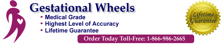 Gestational or Pregnancy Wheels